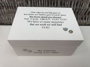 Personalised In Memory Of A Loved One ~ SON ~ BOX any Name Bereavement Loss - 253568208882